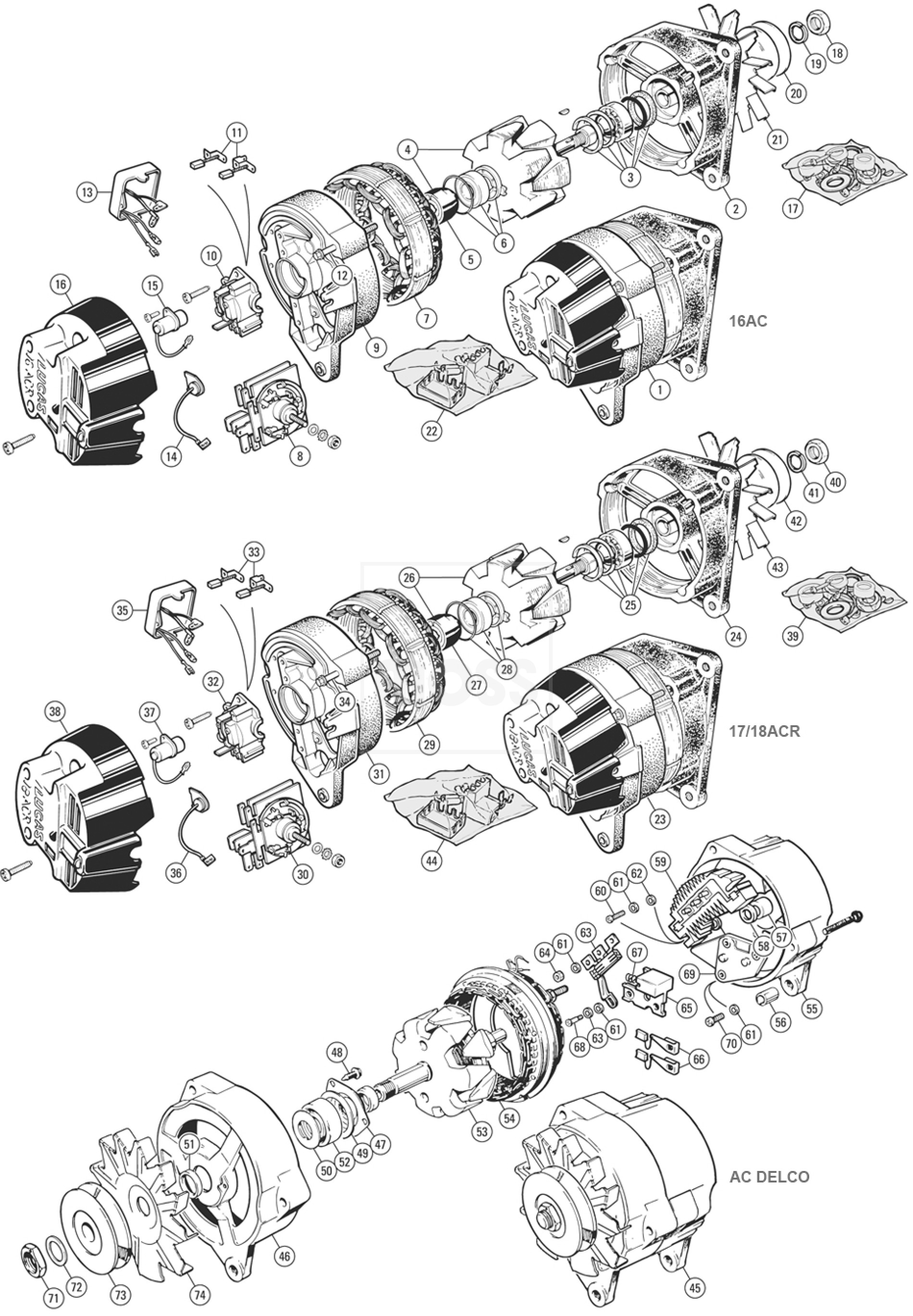 Lucas 18 Acr Alternator Wiring Diagram