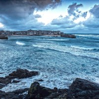 Winter landscape St Ives Cornwall