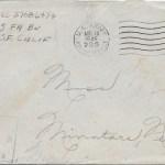 Original 11 August 1945 envelope