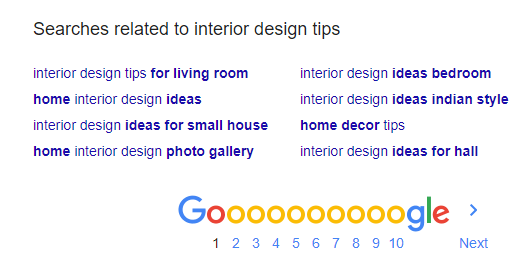 Google relate search result