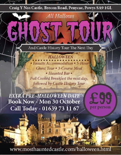 Halloween Poster for Most Haunted Castle in South Wales