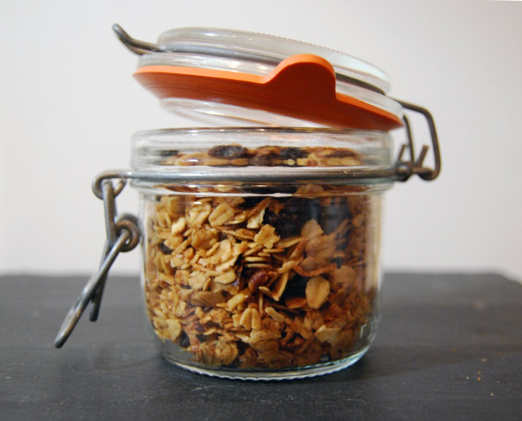 Homemade muesli with dates