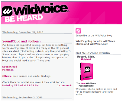 WildVoice helps #bloggers with podcasts