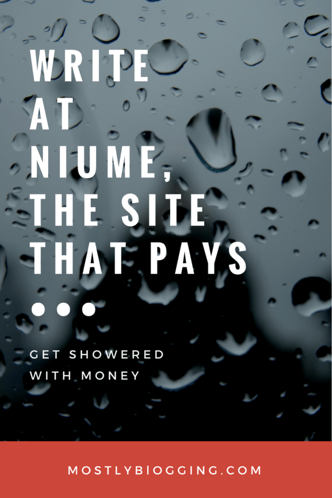 Are you a #blogger or #writer? Get paid for writing at Niume