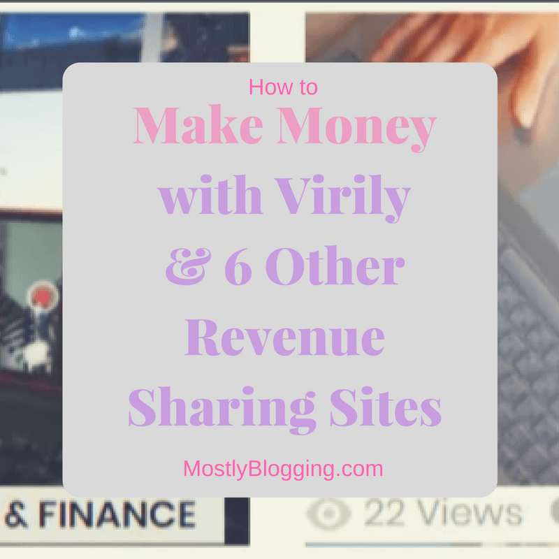 Virily and other revenue sharing sites pay bloggers and writers