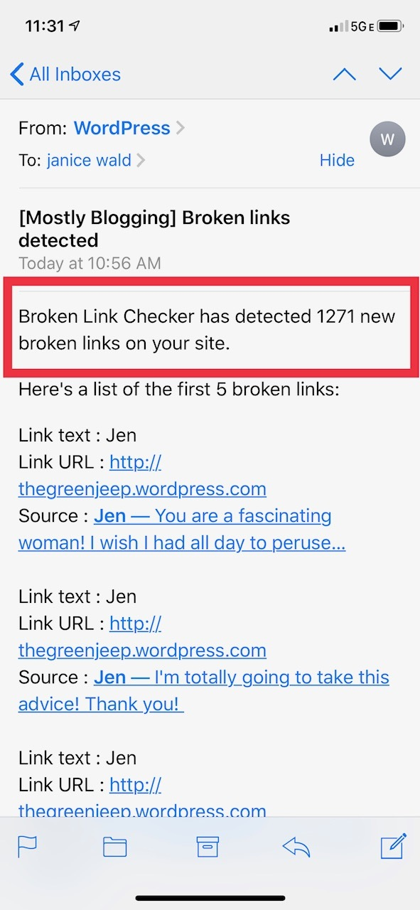 Broken link checker internal link checker