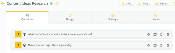 Quiz Questions: Survicate