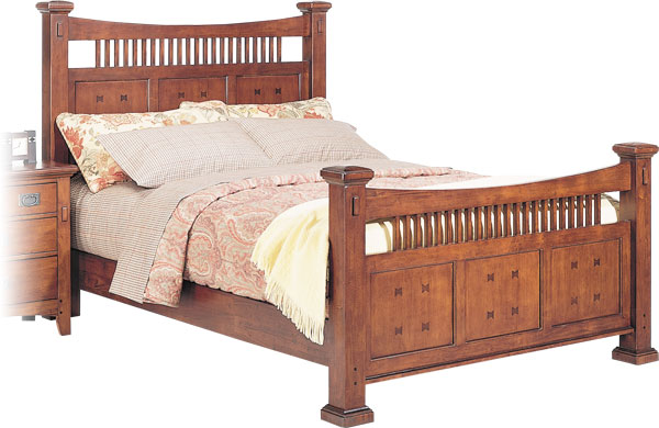 Cal King Mission Bed