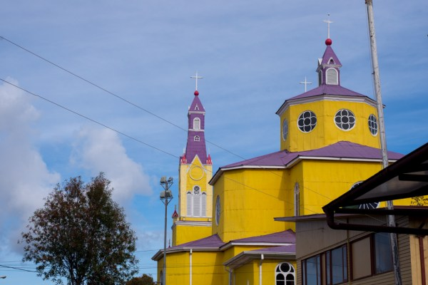My one terrible photo of Castro's wooden church from the outside.