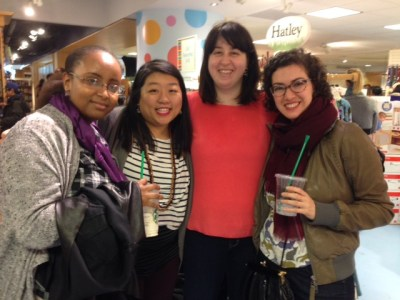 Ardo, me, Amanda, and Vikki at the 2015 Fierce Reads Tour.