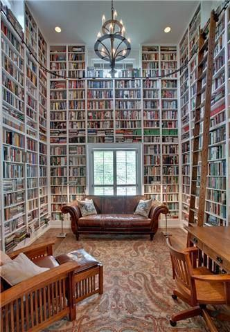 dream home library from pinterest