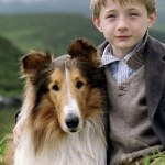 Lassie movie image (about human-animal friendships)