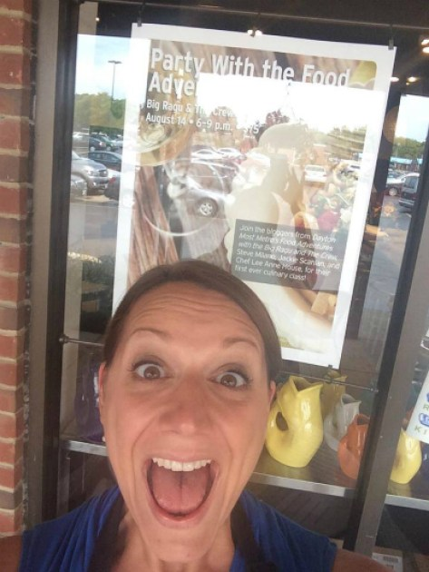 JAx is excited for our first cooking class and the signage!