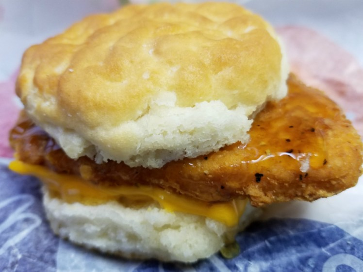 Dripping with cheese and honey - The Chicken Biscuit