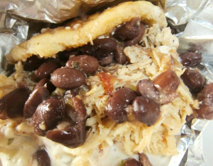 "Bean and chicken Arepas from ""Arepas and Co."""