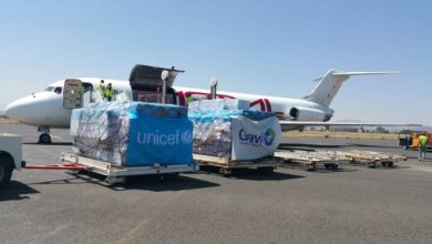 Photo of UNICEF cargo plane arrives at Sana'a airport