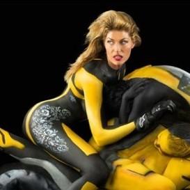 femme moto peinture