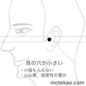 耳の穴が小さい