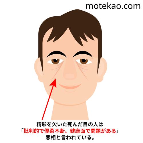 モテない男の顔の特徴2「目が死んでいる」