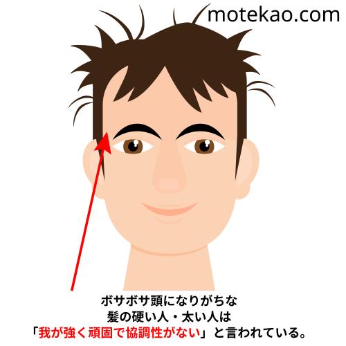 モテない男、顔の特徴「髪の手入れをしていない・ボサボサ」