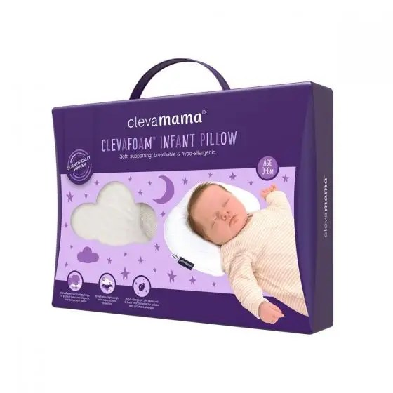 clevamama 2019 clevafoam infant pillow