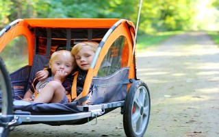 What age kids are bike trailers suitable