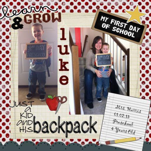 Luke's 1st Day of School 2013 v2