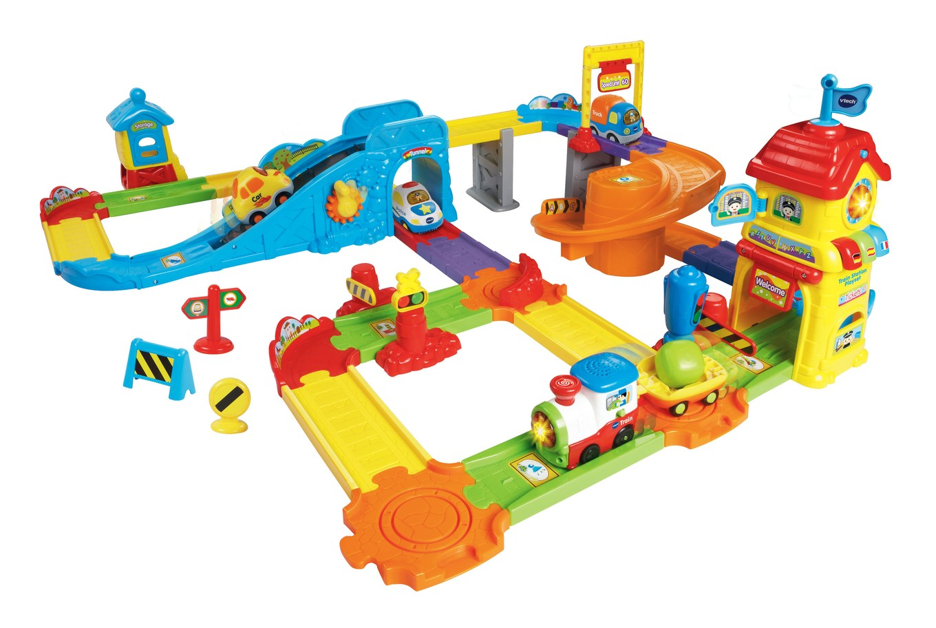Wheels Go Station Playset Train Smart Go