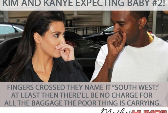 Kim Kardashian and Kanye West baby meme