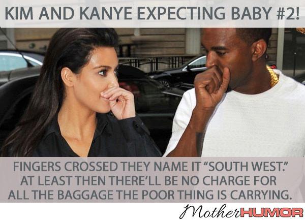 Kim Kardashian and Kanye West baby meme