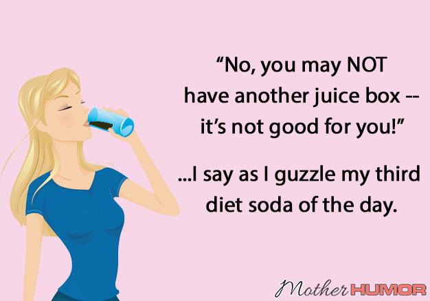 funny mom ecard soda