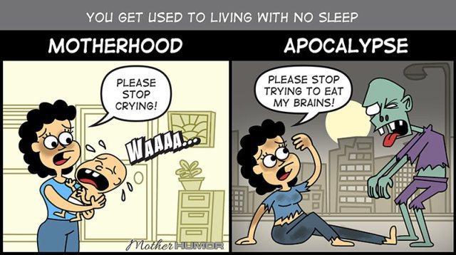 funny cartoon motherhood apocalypse