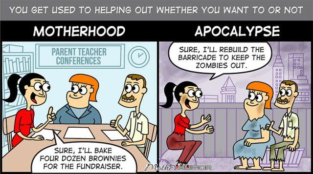 cartoon motherhood apocalypse