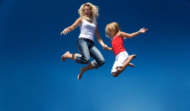 mother-jumping