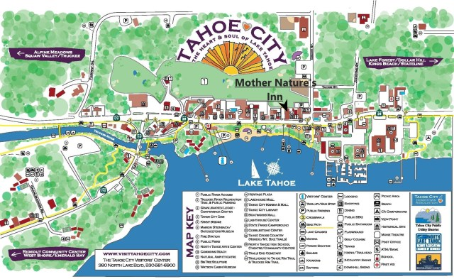 Tahoe City Walking Map