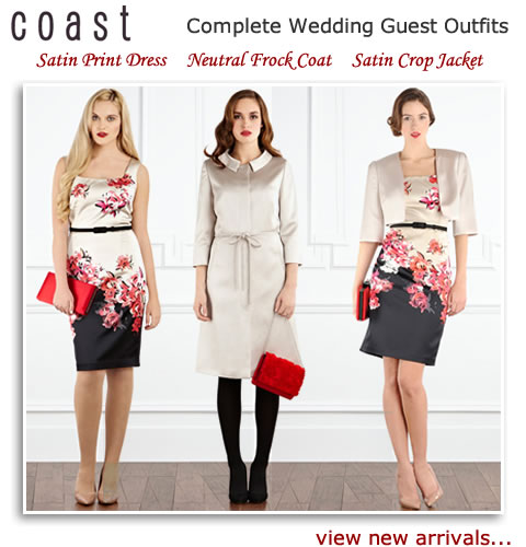 Coast Occasion Dresses Wedding Guest Outfits Satin Frock Coats