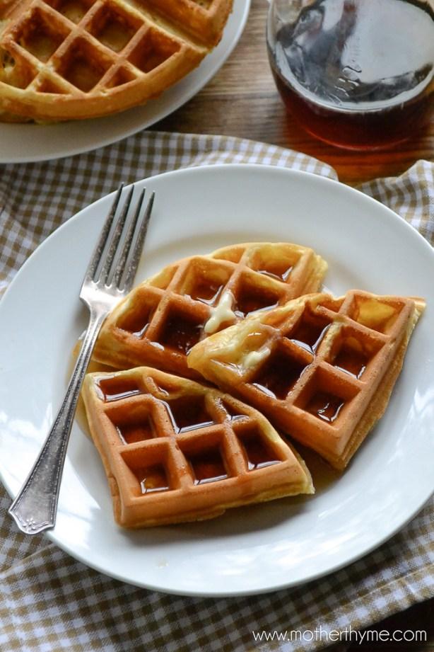 Homemade Sunday Waffles | www.motherthyme.com