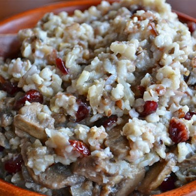 Wild Rice and Cranberry Stuffing