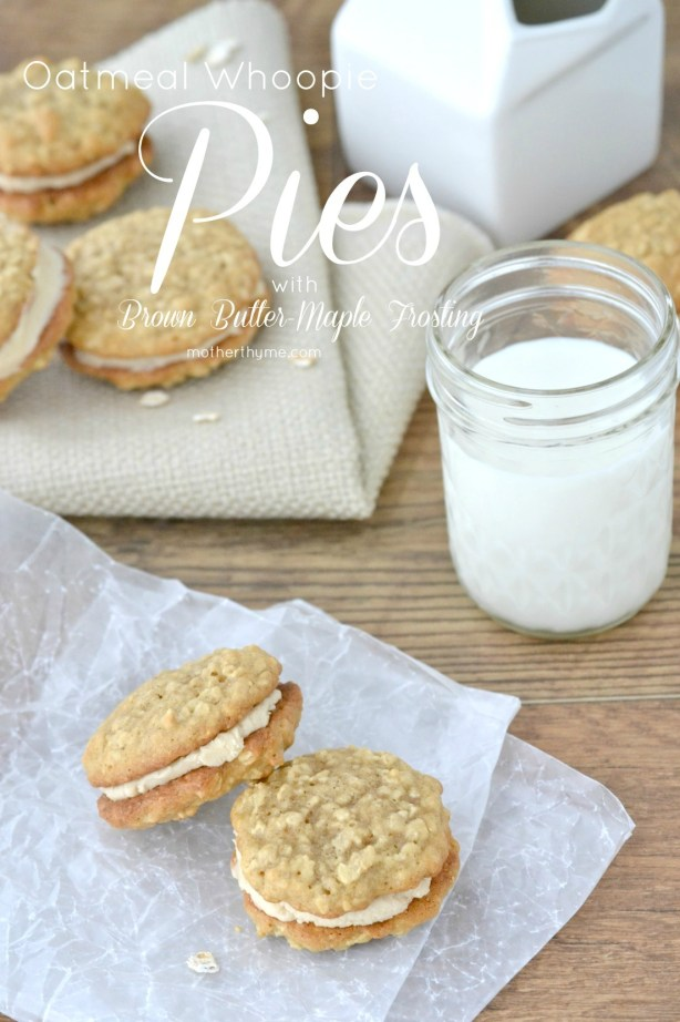 Oatmeal Whoopie Pies with Brown Butter-Maple Frosting