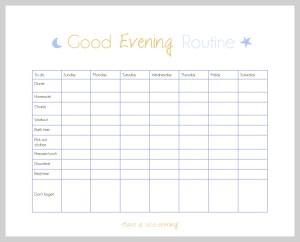 Organize Your Routine- Evening checklist   www.motherthyme.com