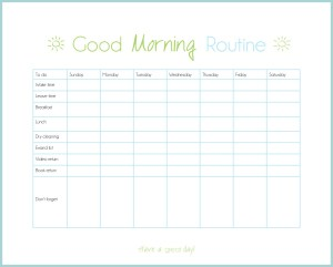 Organize your routine - morning checklist | www.motherthyme.com