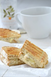 Creamy Chicken Grilled Cheese | www.motherthyme.com