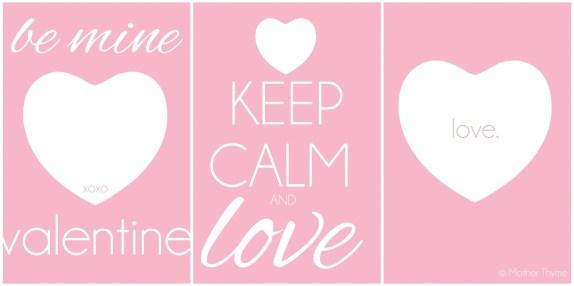 Valentine's Day Printables   www.motherthyme.com
