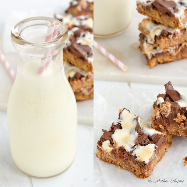 S'mores Blondies by Mother Thyme