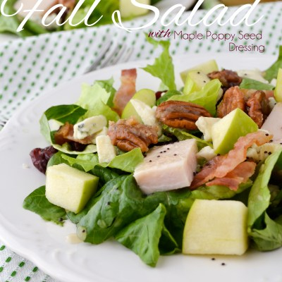 Roasted Turkey Fall Salad with Maple Poppy Seed Dressing