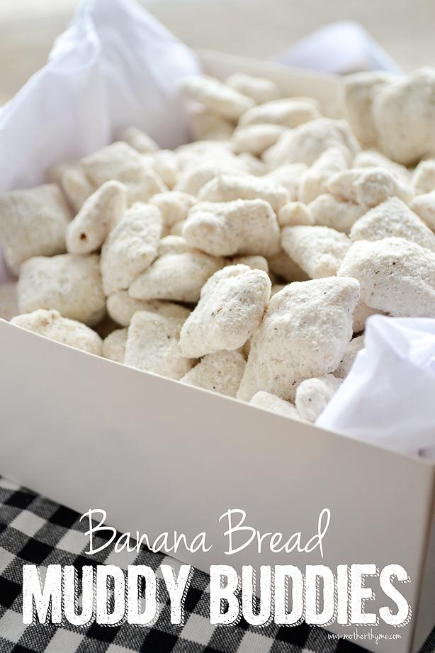 Banana Bread Muddy Buddies | www.motherthyme.com