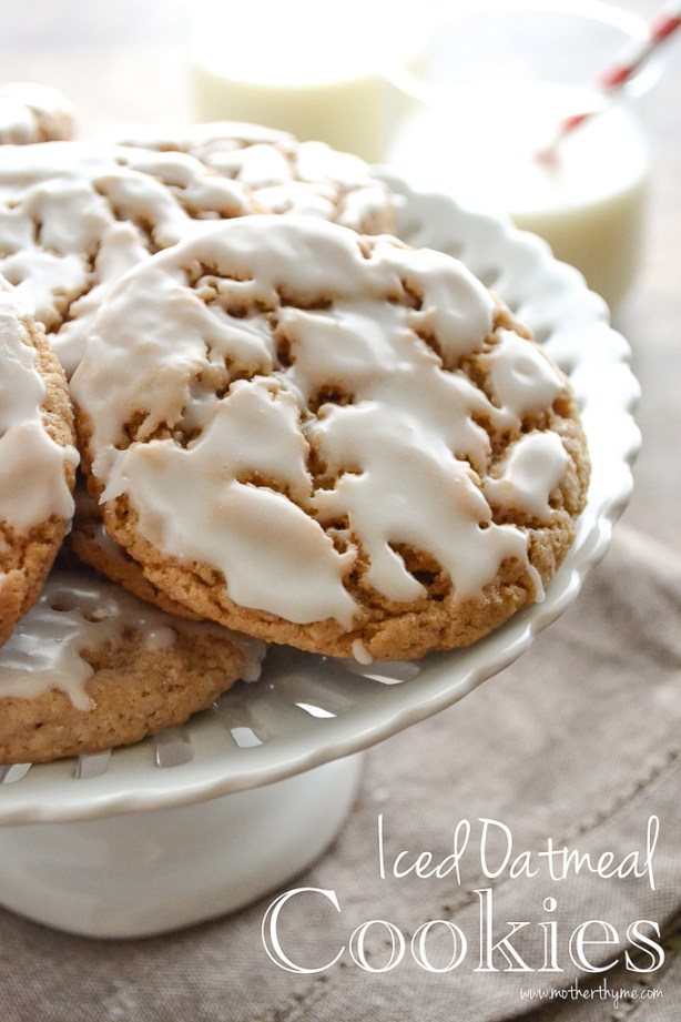 Iced Oatmeal Cookies from www.motherthyme.com