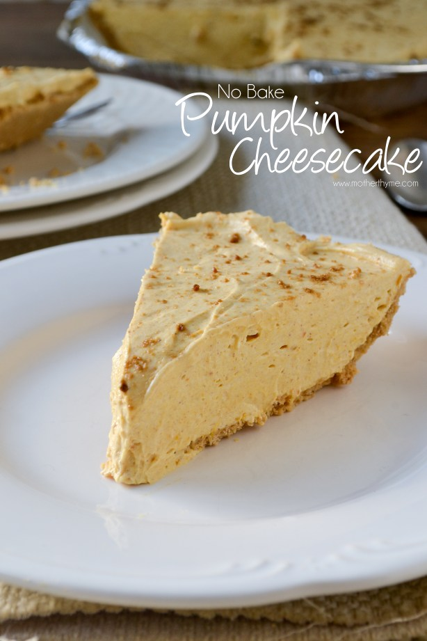 No Bake Pumpkin Cheesecake from www.motherthyme.com