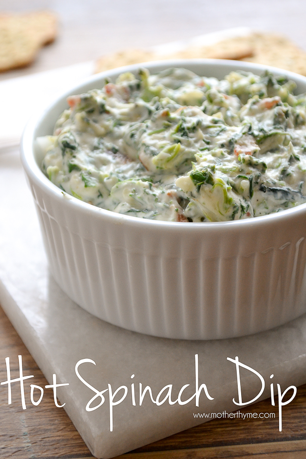 Hot Spinach Dip | www.motherthyme.com