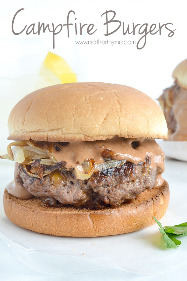 Campfire Burgers | www.motherthyme.com #burgers